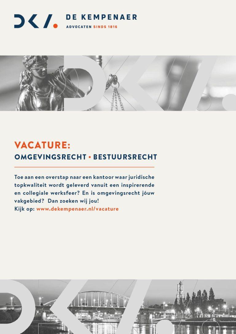 Vacature Omgevingsrecht | Bestuursrecht